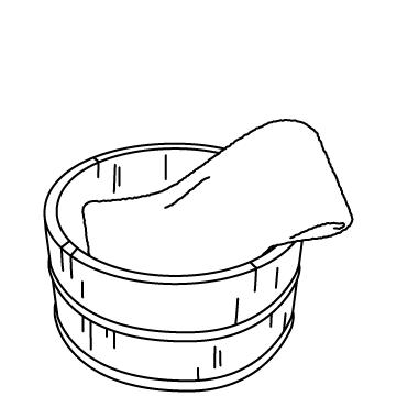 温泉の檜桶のサムネイル