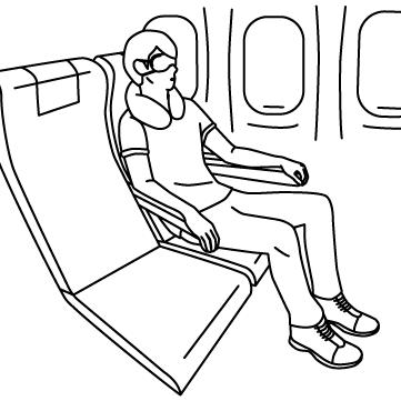 機内で眠る男のサムネイル