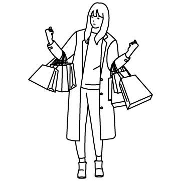ショッピング(買い過ぎ)のサムネイル