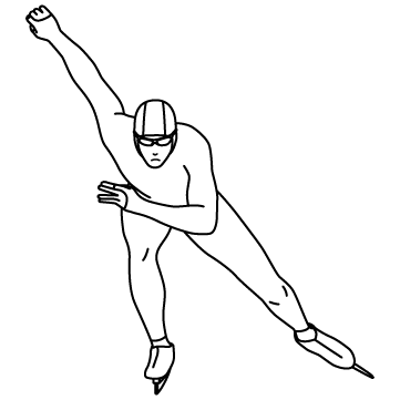 スピードスケート 01のサムネイル