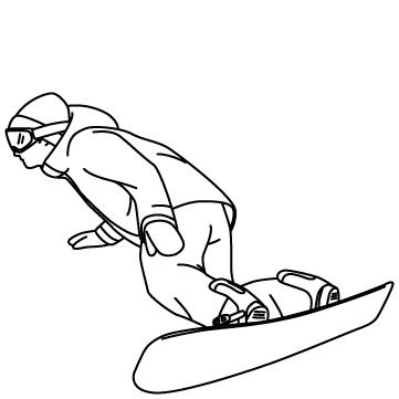 スノーボード(ターン)のサムネイル