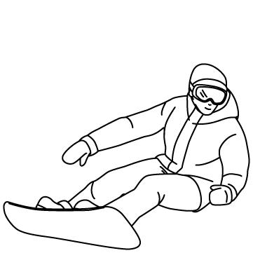 スノーボード(ターン)02のサムネイル