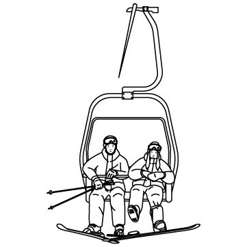 スキー場 リフトのサムネイル