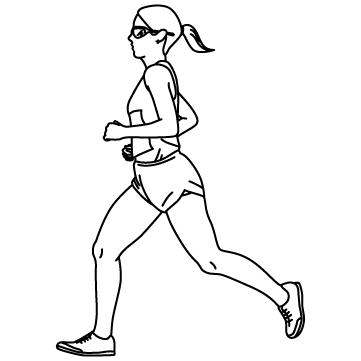 女子マラソンランナーのサムネイル