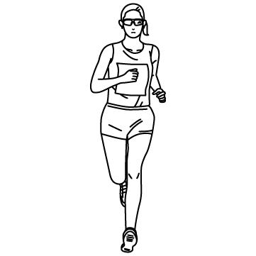 女子マラソンランナー 02のサムネイル