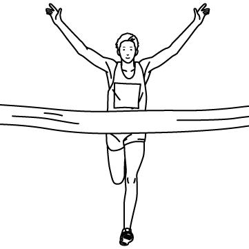 マラソンゴールのサムネイル