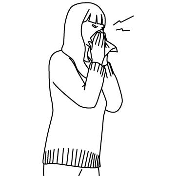花粉症(鼻をかむ)のサムネイル