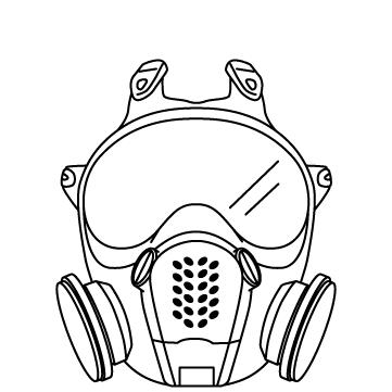 防毒・防塵マスクのサムネイル