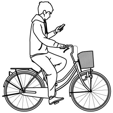 自転車ながらスマホのサムネイル