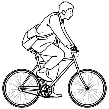 自転車で出勤のサムネイル