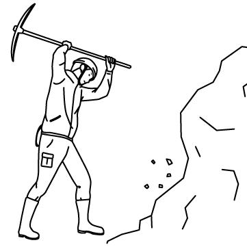 採掘(マイニング)する人のサムネイル