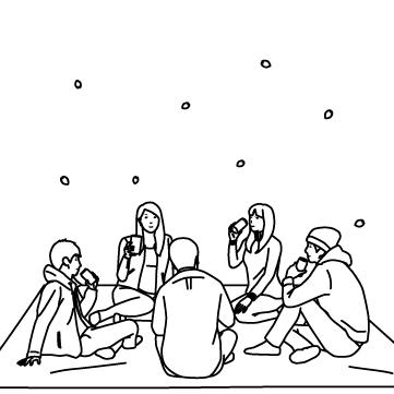 外で宴のサムネイル