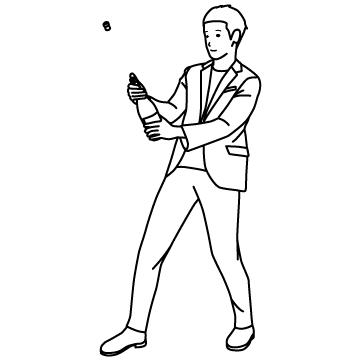 シャンパンを開ける人のサムネイル