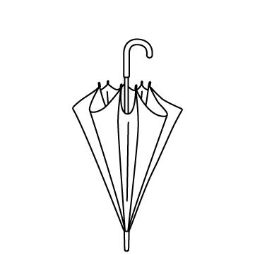 閉じた傘のサムネイル