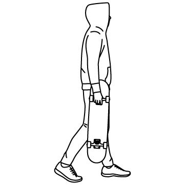 スケボー(スケーター)のサムネイル