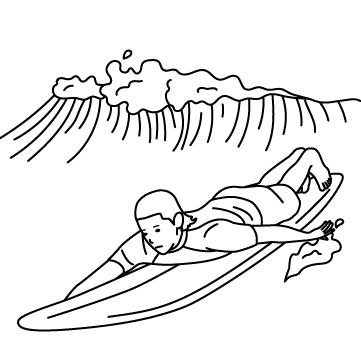 サーファー(波乗り) 02のサムネイル