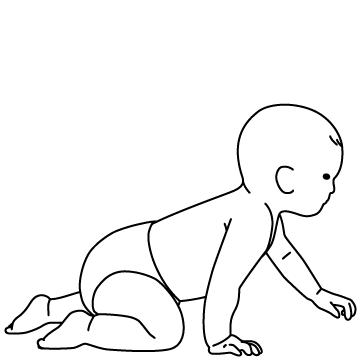 ハイハイする赤ちゃんのサムネイル
