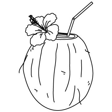 ココナッツジュースのサムネイル
