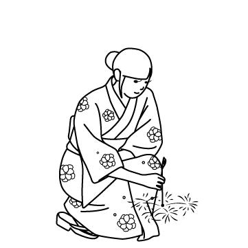 線香花火 01のサムネイル