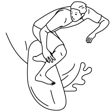 サーファー(波乗り) 03のサムネイル