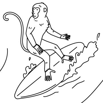 波乗り猿のサムネイル