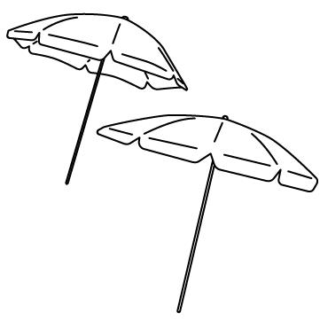 ビーチパラソルのサムネイル