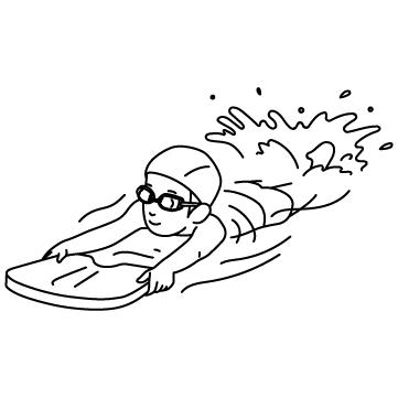 見習いスイマー(ビート板)のサムネイル