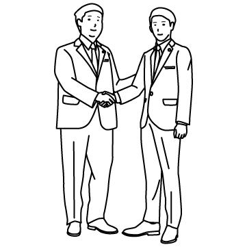 歴史的会談(握手) 02のサムネイル