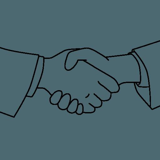 握手する手のイラストサンプル