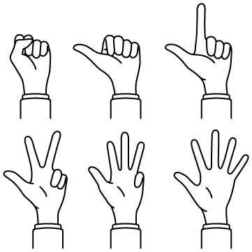 イケメン式数え指(0〜5)のサムネイル