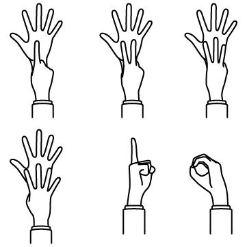 数え指(6〜10)のサムネイル