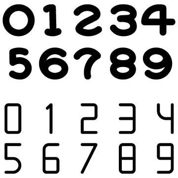 シンプル数字のサムネイル