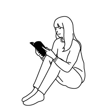体育座りで読書の秋 01のサムネイル