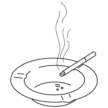 たばこと灰皿のサムネイル