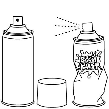 色んなスプレー缶のサムネイル