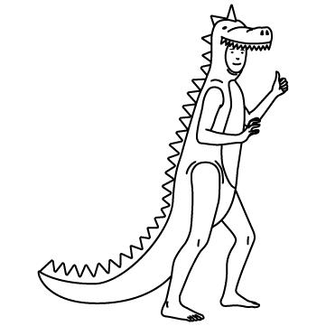 恐竜のコスプレ(仮装)のサムネイル