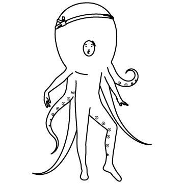 タコ野郎(仮装)のサムネイル