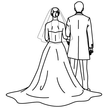 花嫁と花婿(新郎新婦)のサムネイル