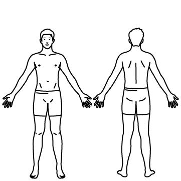 男性の全身(人体)のサムネイル