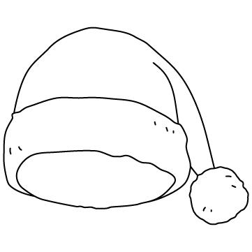 サンタクロースの帽子のサムネイル