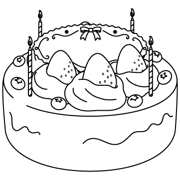 ショートケーキ(お祝い)のサムネイル