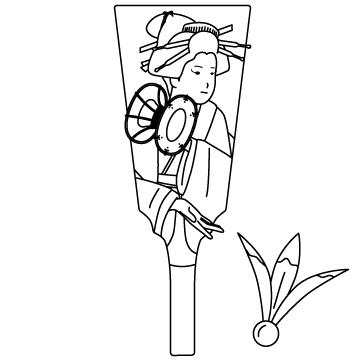 羽子板と羽根のサムネイル