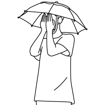 かぶる傘 03のサムネイル