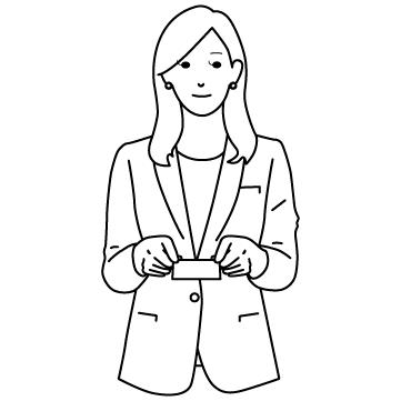 名刺交換する女性のサムネイル