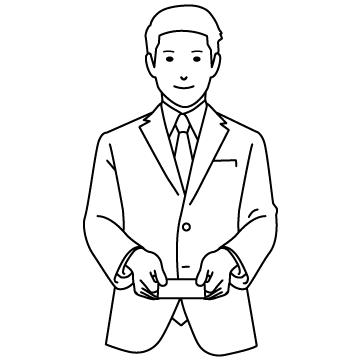 名刺交換する男性のサムネイル