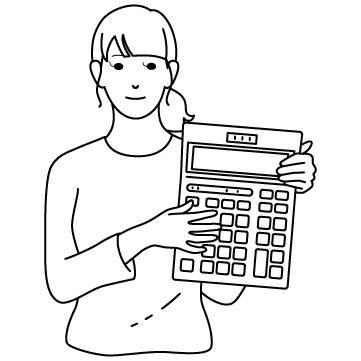 計算高い女のサムネイル